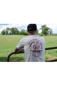 Cream+Maroon Polen Designs Short Sleeve T-Shirt